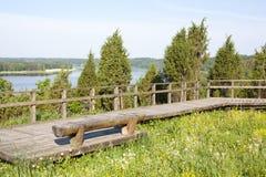 Landschaft mit Pfau Lizenzfreies Stockbild