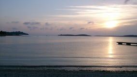 Landschaft mit Pfau Stockfotos