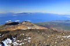 Landschaft mit Pico Viejo-Vulkan lizenzfreie stockfotos