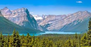 Landschaft mit Rocky Mountains in Alberta, Kanada Lizenzfreies Stockbild