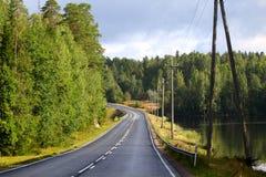 Landschaft mit Straße Lizenzfreie Stockbilder