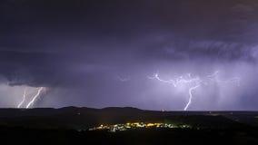 Landschaft mit Sturm Lizenzfreie Stockfotos