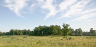 Landschaft mit Wolken Stockfotografie