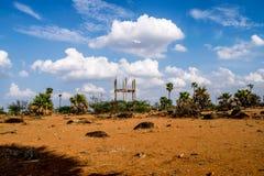 Landschaft mit Wolken stockfotos
