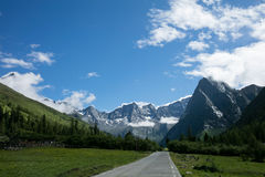 Landschaft Mt Siguniang in Sichuan, China Stockfotos