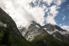 Landschaft Mt Siguniang in Sichuan, China Stockfotografie