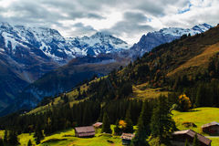 Landschaft in Murren stockbild