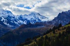 Landschaft in Murren Lizenzfreies Stockfoto