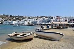 Landschaft in Mykonos, Griechenland lizenzfreies stockfoto