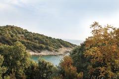 Landschaft nahe alter Stadt Stagira Griechenland Stockbilder
