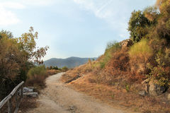 Landschaft nahe alter Stadt Stagira Griechenland Lizenzfreies Stockfoto