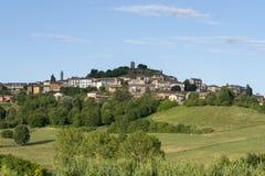 Landschaft nahe Calliano, Monferrato, Italien stockbilder