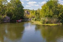 Landschaft nahe dem Myhiia-Fluss ukraine lizenzfreie stockfotografie