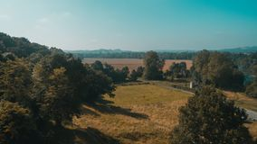 Landschaft nahe Heilig-Jean-Gescheckt-De-Hafen, Frankreich stockfotos