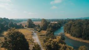 Landschaft nahe Heilig-Jean-Gescheckt-De-Hafen, Frankreich lizenzfreie stockfotografie