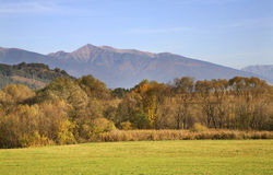 Landschaft nahe Liptovsky Mikulas slowakei stockfoto