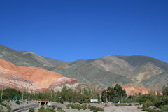 Landschaft nahe Salta in Argentinien Lizenzfreies Stockfoto