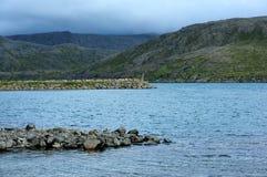 Landschaft nahe Skarsvag, Finnmark, Norwegen Stockbilder