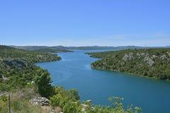 Landschaft nahe Skradin Stockbilder