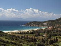 Landschaft nahe Solanas, Sardinien, Italien Lizenzfreies Stockbild