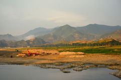 Landschaft, Norden-Korea Lizenzfreie Stockbilder
