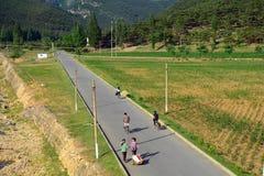 Landschaft, Norden-Korea Stockfotografie