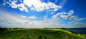 Landschaft panoramisch Lizenzfreies Stockbild