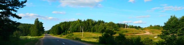 Landschaft panoramisch Stockfotografie