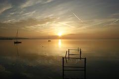 Landschaft Peacefull Balaton Stockfotografie