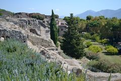 Landschaft Pompeji Vesuv Lizenzfreie Stockbilder