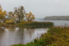 Landschaft am regnerischen Tag des Herbstes Lizenzfreie Stockfotografie
