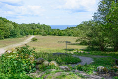 Landschaft Süd-Schweden Stockfoto