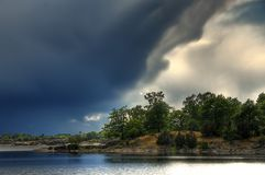 Landschaft in Schweden Lizenzfreies Stockbild