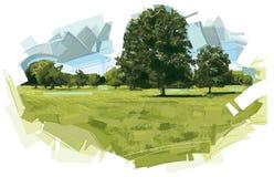 Landschaft am Sommer Lizenzfreie Stockfotos