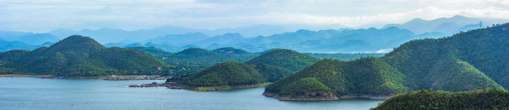 Landschaft-Srinakarin-Verdammung stockbild