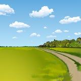 Landschaft-Straße stock abbildung