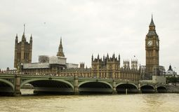 Landschaft: Themse-Bank, Westminster Abbey Lizenzfreie Stockfotos
