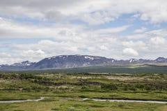 Landschaft in Thingvellir stockbilder