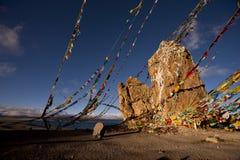 Landschaft in Tibet Stockbild