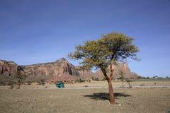 Landschaft in Tigray-Provinz, Äthiopien Stockbilder
