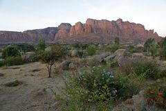 Landschaft in Tigray-Provinz, Äthiopien Lizenzfreie Stockfotografie