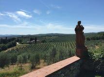 Landschaft in Toskana Stockfoto