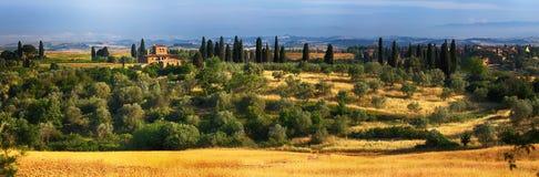 Landschaft in Toskana, Italien Lizenzfreies Stockfoto