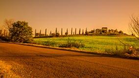 Landschaft, Toskana Val D'Orcia Stockbilder