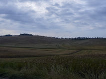 Landschaft, Toskana Val D'Orcia Lizenzfreie Stockfotografie