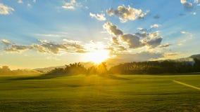 Landschaft u. Sonnenuntergang Lizenzfreie Stockfotografie