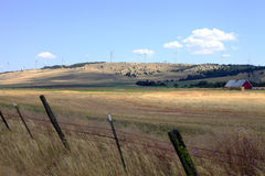 Landschaft u. Windturbinen. Lizenzfreie Stockbilder
