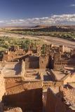 Landschaft um Ait Benhaddou stockfoto