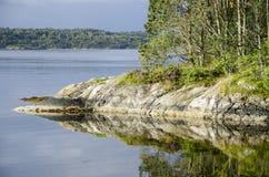 Landschaft um Bergen in Norwegen lizenzfreie stockbilder