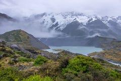 Landschaft um Mt Nationalpark des Kochs/Aoraki, Neuseeland Stockfoto
